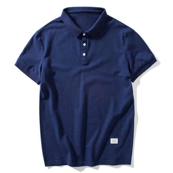 2019 New PF65567 Polos Shirt Men Summer Hot Sale Casual Outwear Solid Short Sleeve Shirt Male Breathable Mens Tee