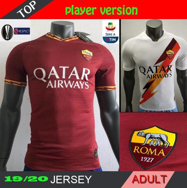 versão TOTTI Jogador ROMA 19 20 lar longe de futebol ROMA DZEKO Sports DE ROSSI Jersey 2019 camisa 2020 EL Shaarawy Nainggolan Football DZEKO