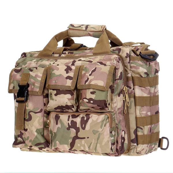 Aequeen камуфляж мужская сумка многофункциональный тактический сумка Messenger сумки водонепроницаемый Crossbody