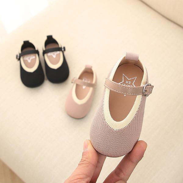 Дышащие корейских дети свадьба обувь 1-3 годовалая девочка Мини-доказательство Soft-подошве Весна 2019 Новых Чистой ткани малыш обуви