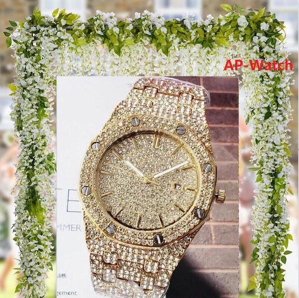 lüks erkekler kadınlar tasarımcı Japonya elmas Chronograph aydınlık 42mm montre de luxe tam paslanmaz çelik 5ATM su geçirmez süper saatler saatler