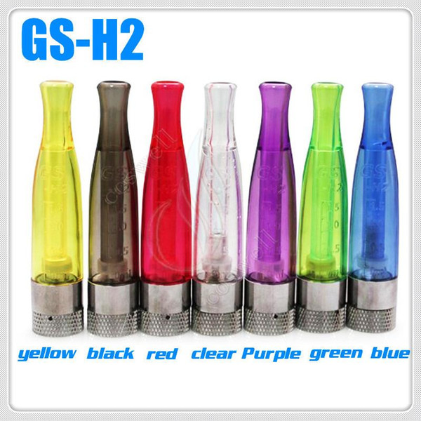 Top GS H2 Clearomizer Reconstruible bobinas atomizador GS-H2 No Wick No Leak Burning Smell e cig cigarrillo electrónico ego vapor batería tanque vape