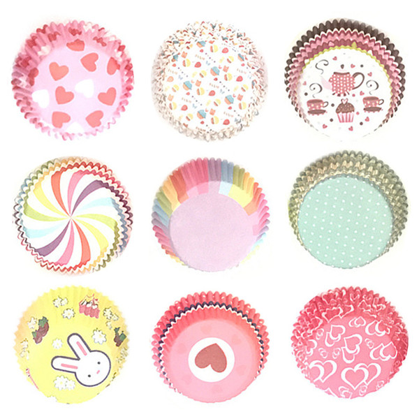 Food Grade Round Shape Muffin Cases Paper Cake Cupcake Liner Baking Mold Bakeware Maker Cake Mold Tray Jsx 1000Pcs/set
