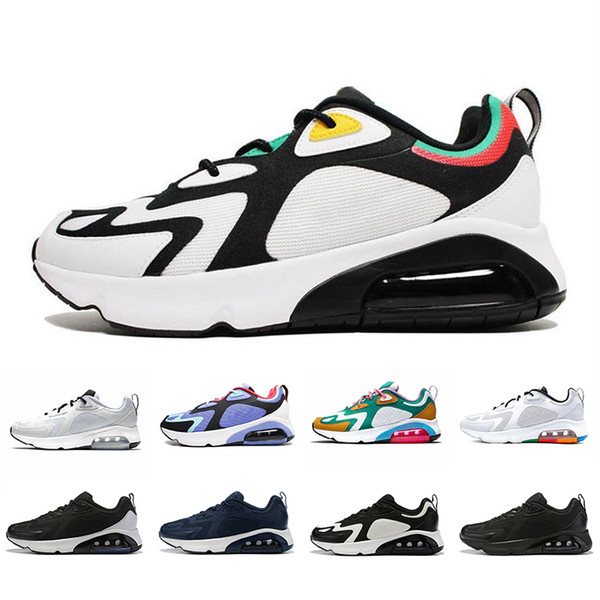 Nike air max 200 airmax 200 shoes White Black 200 Mens Running Shoes 200s Bordeaux Blue Desert Sand Royal Pulse Mystic Green Vast Grey Cushion trainers sports Sneakers 40-46