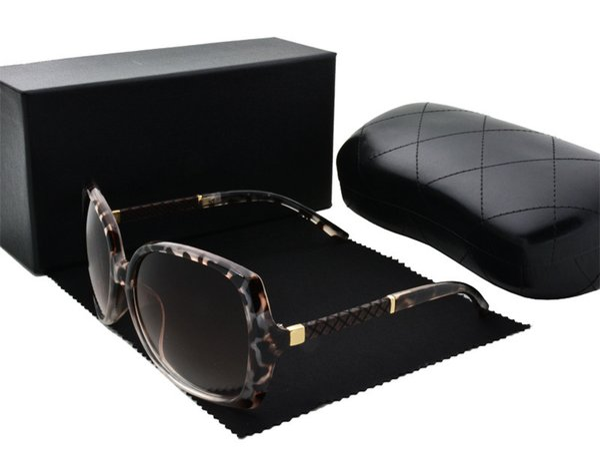CHANEL Nova moda óculos de sol rodada lente de cor quadro popular verão estilo de venda quente óculos de proteção uv400