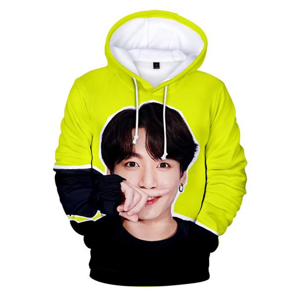 BTS 3D Digital Hoodies Hip Hop Frauen K-Pop Mode heißer Verkauf Jungen Frauen Fans Sweatshirts