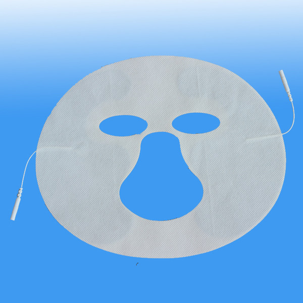 2 pcs muito faciais almofadas de eletrodo rosto Dezenas Máquina Facial beleza Eletrodo Pads com cabo para massageador de corpo inteiro máquina de pulso