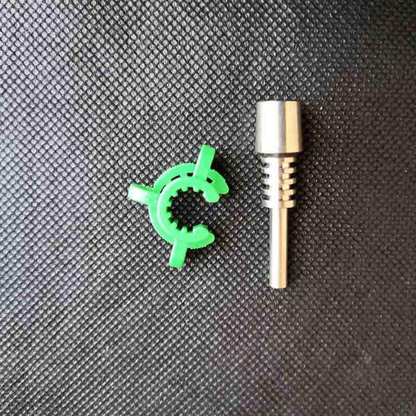 punta de 10 mm de titanio + clip de verde