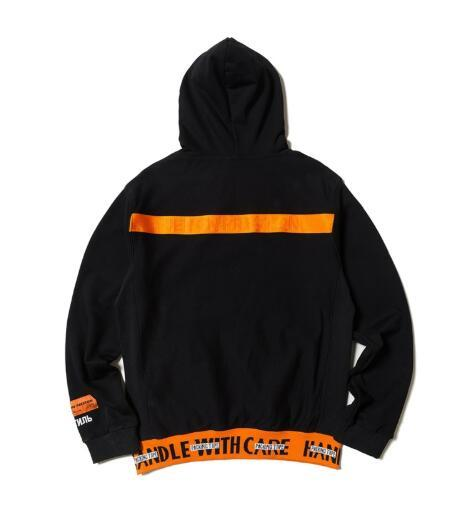 2019 marke clothing männer hoodie designer heron preston kran muster druck diamant stickerei brief pullover mit kapuze fleece sweatshirt