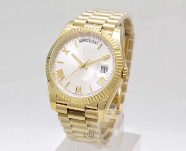 N заводские Автоматические часы Cal.3255 Luxury 40mm Day-Date II 228235 218239 President ETA 3255 Белые циферблаты Наручные часы