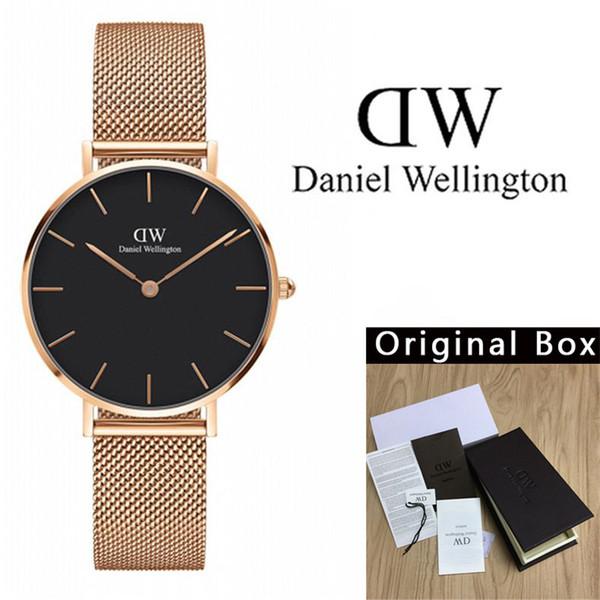 2019 new 30 fashion impermeabile acciaio striscia ragazze Daniel Wellington orologi 32mm orologi da donna di lusso quarzo 40mm orologio da uomo Montre de luxe