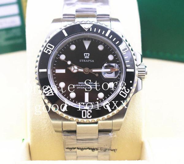 Mens Automatic 2813 Glidelock Clasp Relógios Safira Assista Blue Ceramic Bezel Disque 116610 Sub Dive Men Sport Perpetual 116610LN relógios de pulso