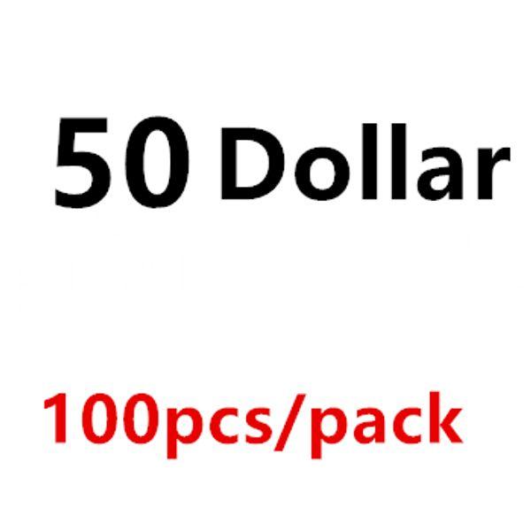 50 Dollar 100PCS