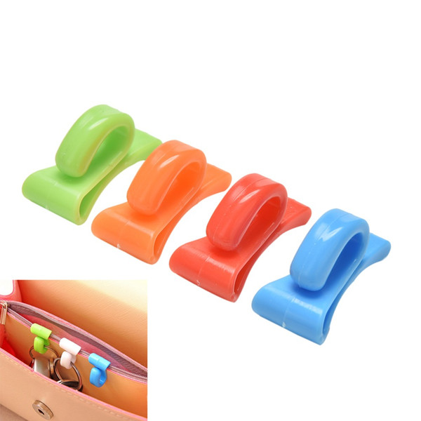 Colorful 2Pcs Home Plastic Novelty Mini Cute Creative Anti-lost Hook Within The Bag Key Storage Holder Rack Bag Hooks