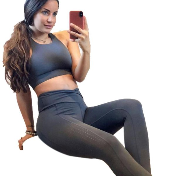 Women Fashion Fitness Clothes Solid Color Standard Bra Tight-fitting All Seasons Pants Set Sports, Casual