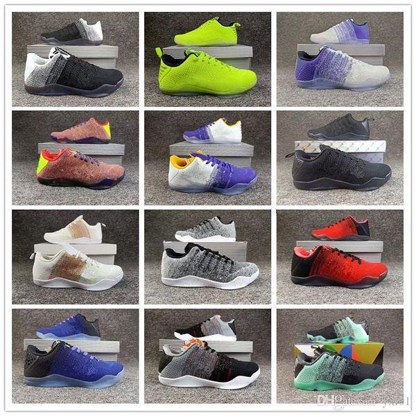 Горячие 12 Цветов Кобе 11 Xi Elite Bhm Eulogy Черный Цемент Баскетбол Обувь Для Высокого Качества Kb 11s Мужские Кроссовки Кроссовки Size40-46