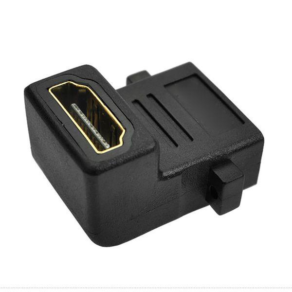90 degree angled HDMI Female to Female socket Panel Mount Coupler Adapter Socket Face Plate