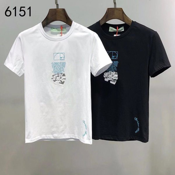 2020ss spring and summer new high grade cotton printing short sleeve round neck panel T-Shirt Size: m-l-xl-xxl-xxxl Color: black white vq90