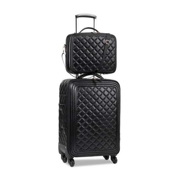 TRAVEL TALE 162024 Inch Women Spinner Leather Trolley Bag Set Travel  Suitcase Luggage Set For Travelling Bags Shop Designer Suitcase From