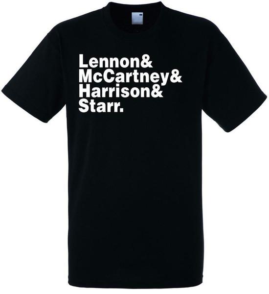 Banda Beatles line up MensT-shirt fã calças t shirt medo cosplay liverpool tshirt mens orgulho t-shirt escuro