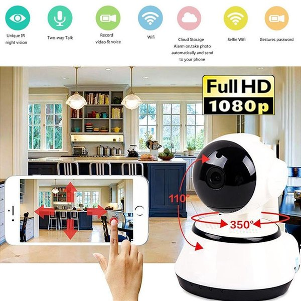 WIFI IP home Surveillance Camera 1080P HD Mini Phone Remote Camcorder webcam 1MP 3.6MM lens Video Recorder support TF card