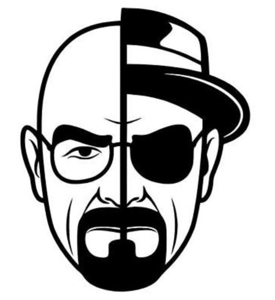12.8*17CM HEISENBERG BREAKBAD WALT Decal vinyl car stickers For car and others FINISH GLOSSY