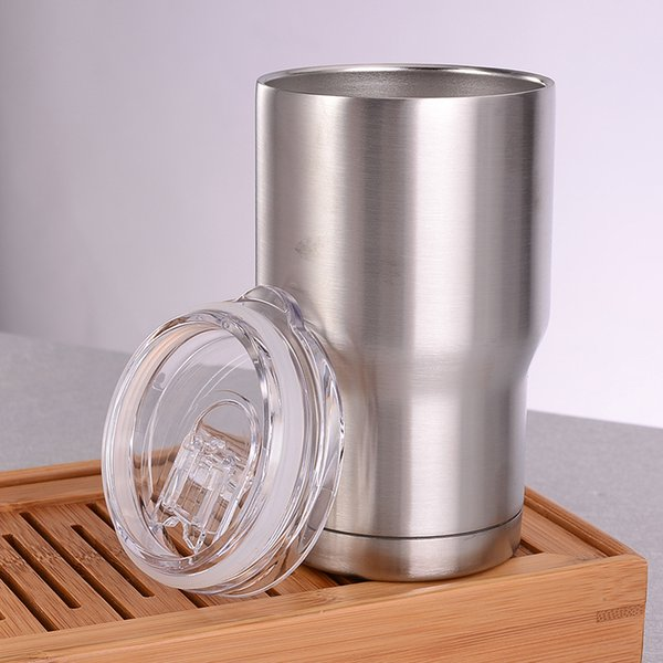 Vaso de acero inoxidable 14 oz aislamiento de doble pared de agua al vacío tazas de café en casa tazas de coche al aire libre con tapas MMA1905-1