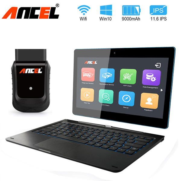 2019 Obd Obdii Car Diagnostic Tool Full System Airbag Scan Tool Wifi Connect Tablet With Detachable Keyboard Automotive Scanner Uk 2019 From