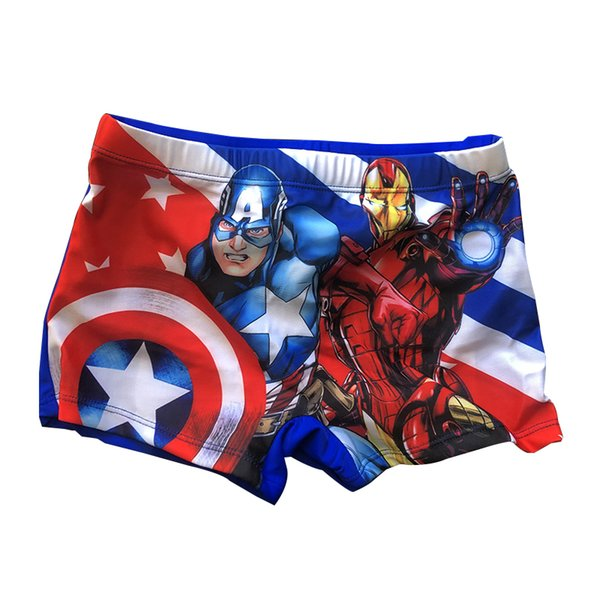 8cc66c636e Iron Man&Captain American Boys Swim Trunks Kids Swimming Short Swimwear  Summer Beach Swim Pants Children Swimsuit