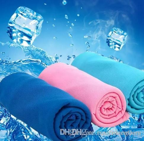 300pcs New Arrival Magic Ice Towel 90 * 35 cm Summer Cold Sports Towels Cool scarf Ice belt For Children Adult