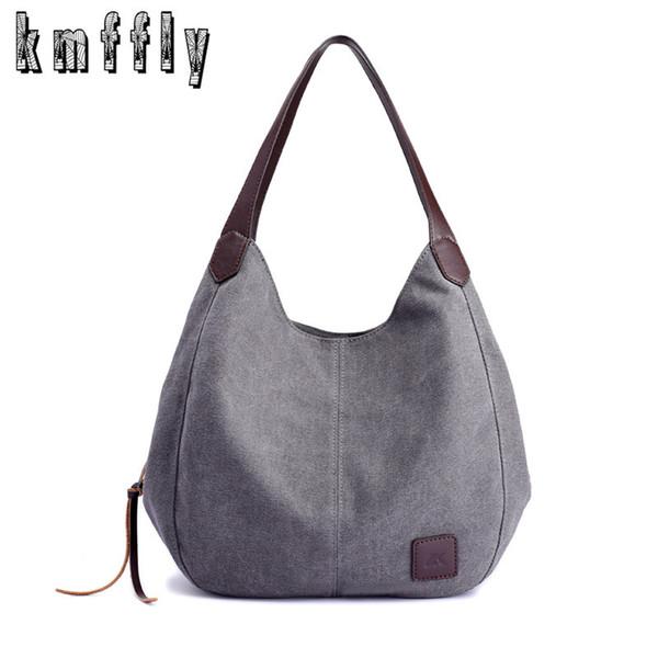 Kmffly 2018 Neue Frauen Leinwand Handtaschen Marken Designer Weibliche Mode Umhängetaschen Damen Tote Retro Freizeittasche Y19052801