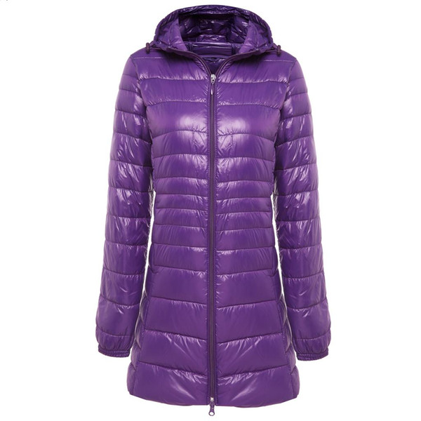best selling 2019 New Brand Ladies Long Winter Warm Coat Women Ultra Light 90% White Duck Down Jacket Women's Hooded Parka Female Jackets