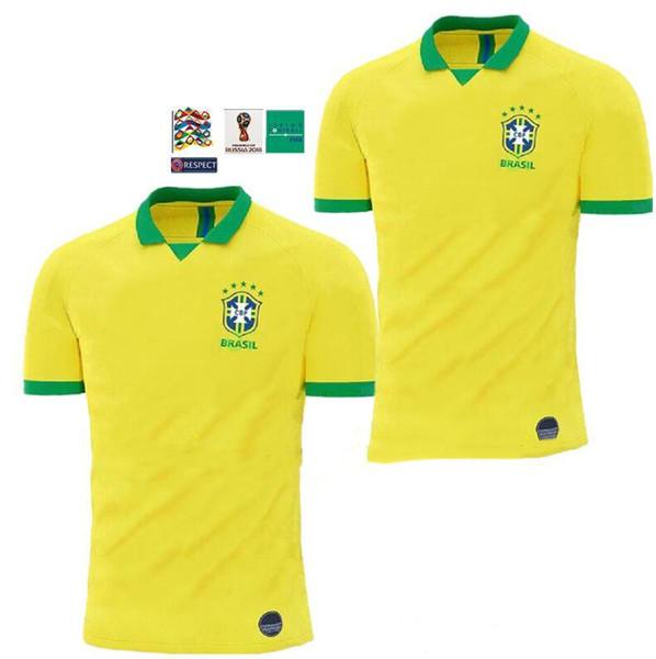 19 20 Brasil National Team COUTINHO Soccer Jersey 2019 2020 Brazil MARCELO WILLIAN Football Jersey PAULINHO Football Shirt G.JESUS Soccer