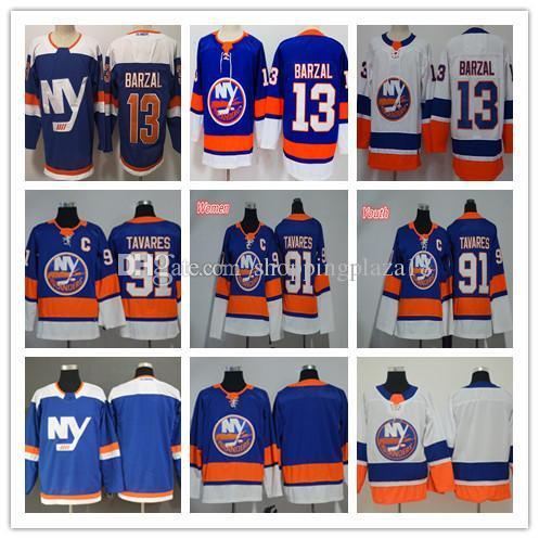 New York Islanders maschile 13 Mathew Barzal 91 John Tavares Fanatics Branded Royal Breakaway Player Maglie da hockey Donne Giovani Bambini