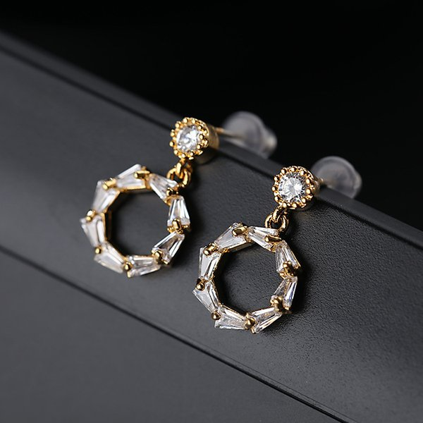 Geometric circular Earrings Hoop Jewelry Long Fashion Designer Wedding Bridal Accessories Jewelry Sets Love Designer Earrings For Women