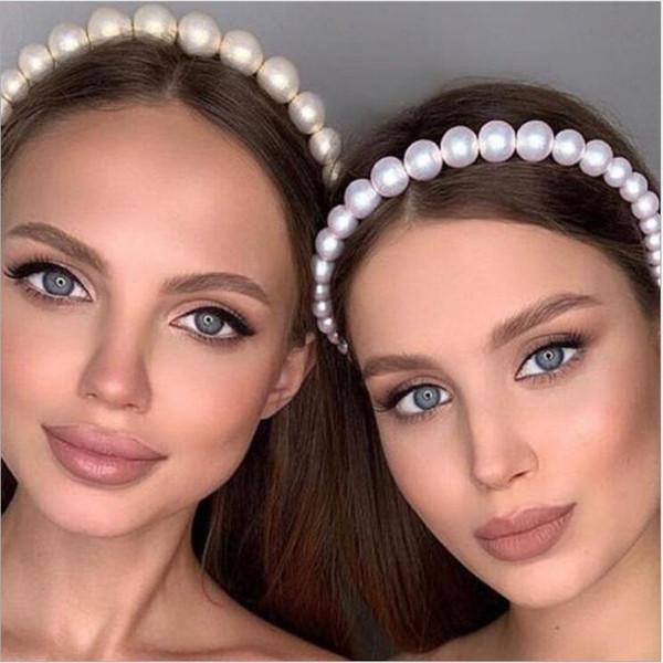 Très belle fille clip cheveux cerceau cheveux style multi accessoire de cheveux de perles de mode élégant et luxueux Bandeau perle de soirée de mariage Bijoux