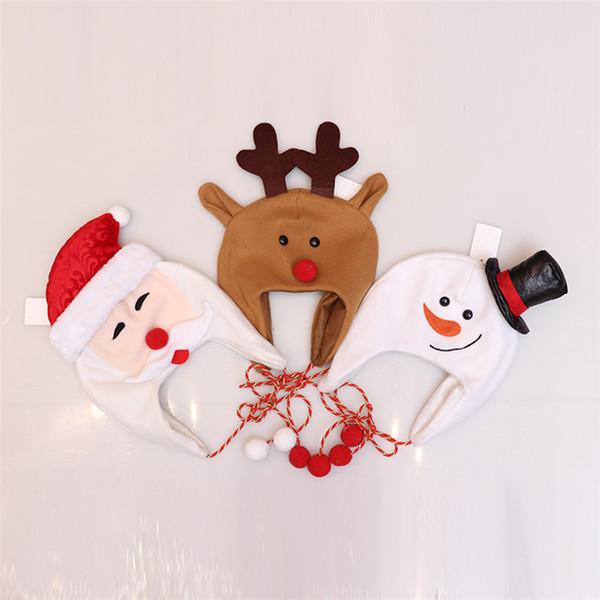 Party Decoration Santa Snowman Natale dei capretti cappello dei bambini Regali di Capodanno cappello Natale inverno dei bambini Parte cappuccio regalo di Natale MJY940