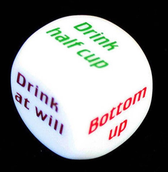 Wholesale-Party Drink Decider Dice Games Pub Bar Fun Die Toy Gift KTV Bar Game Drinking Dice 2.5cm 100pcs