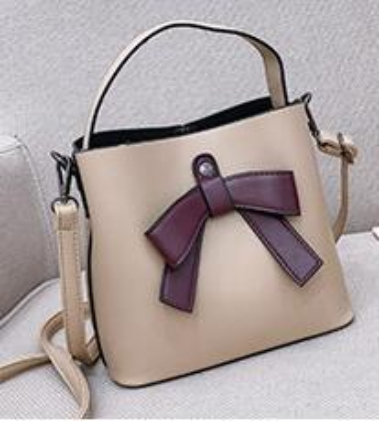 Trendy fashion handbags new bows ladies model bucket bucket female bag Korean version of the shoulder diagonal bucket bag