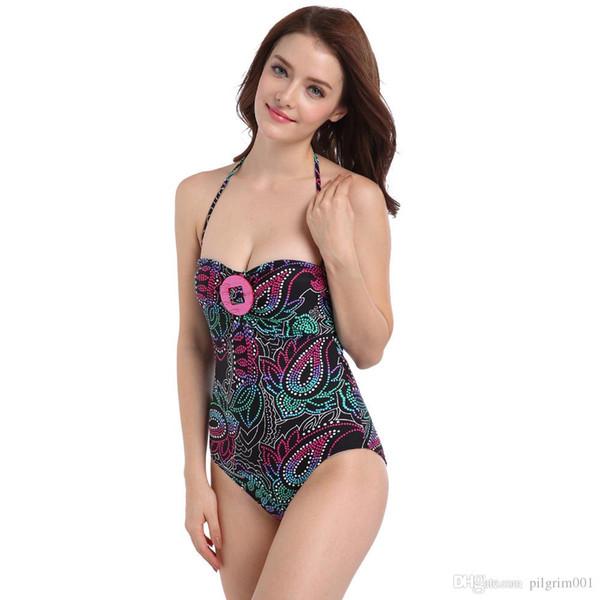 2019 Kadın Mayo Bodysuit Yüzme Suit Trikini Kadife Bikini Set Plaj Mayo Biquini Giymek Plaj Swimwearr Biquini