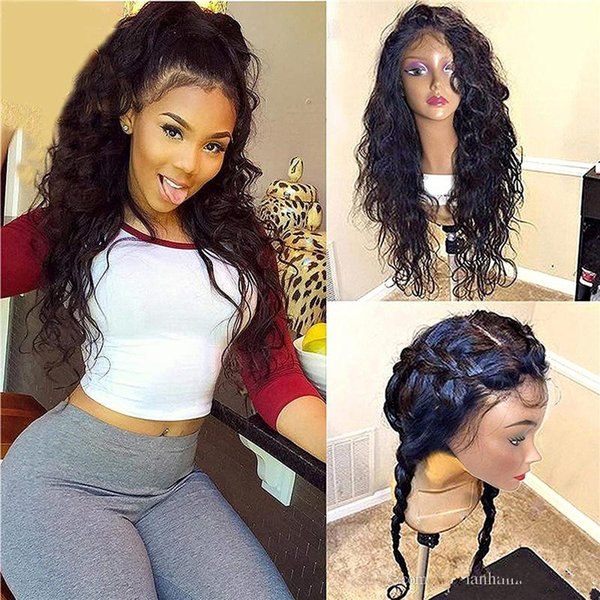 Fashion shop new arrival Human Hair Full lace wavy wigs Glueless lace front deep wave long for women
