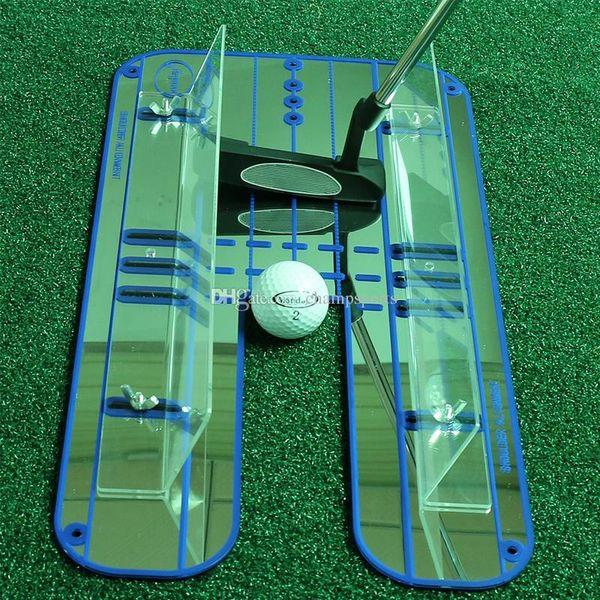 Brand New Golf Professionnel Putting Alignement Mirror Golf Putting Plane Haute Qualité Pratique De Golf Formation Mirror Aid