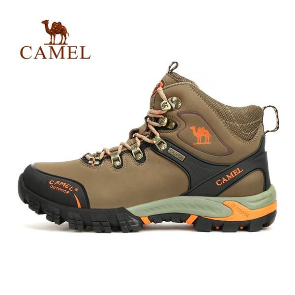 CAMEL Sports De Plein Air Chaussures De Randonnée Pour Hommes En Cuir Maille Haut-Top À Lacets Respirant Résistant À L'usure Chasse Camping Bottes De Randonnée # 97155