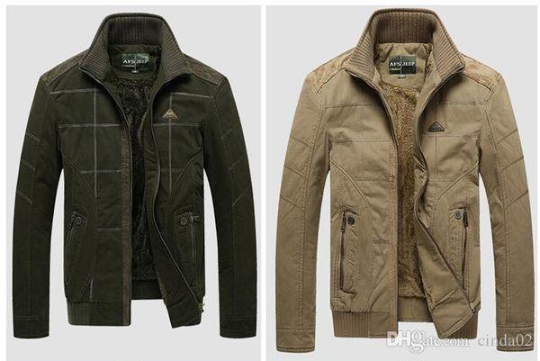 Cappotto campo Big Size Giacca da uomo autunno-inverno caldo cappotto casuale degli uomini