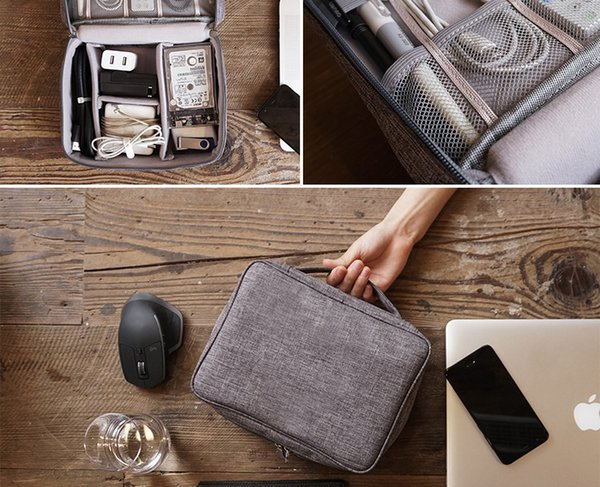 wholesale Accessories Waterproof Organizer Travel Storage Bag Gadget Case to Hold Cell Phone Charger Battery Digital Wire Line U Hard Disk