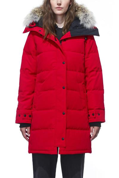 DHL expédition 2018 bombardier dames en plein air doudoune S-2XL épais chaud coupe-vent en duvet d'oie veste épaississement manteau à capuchon