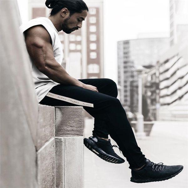 Herren Marke Jogginghose Mode Freizeit Fitnessstudio Workout Fitness Sportswear Hosen Elastische Baumwollschubladen Hosen Jogger Trainingshose