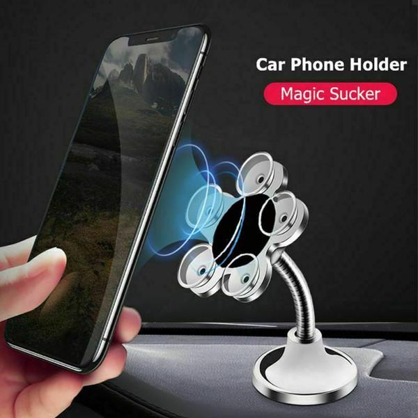 Nouveau Aluminium ABS Placage Universal Sucker Téléphone Porte-ventouse Fleur mobile 360 ° Montage sur pied Rotation