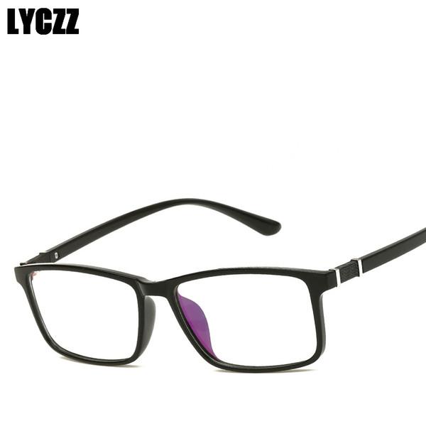 LYCZZ Retro Male Eye Glasses optical frame Square prescription Eyewear TR90 Myopia spectacle Female Eyeglasses Frame oculos Tag
