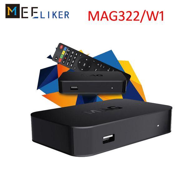 MAG 322 w1 IPTV 2019 Nova Chegada IPTV Set Top Box construir em wifi Mais Recente Linux 3.3 OS MAG322 HEVC H.265 Caixa de TV Inteligente MAG322W1